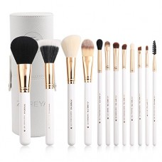 Zoreya Travel Makeup Brush Set White 12pcs Makeup Brushes Premium Synthetic Hair Professional Foundation Powder Contour Blush Cosmetic Eye Brush Se...